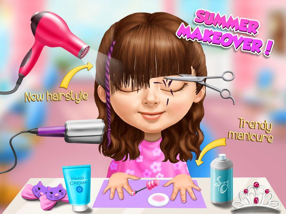 sweet baby girl summer fun - game created with tutotoons